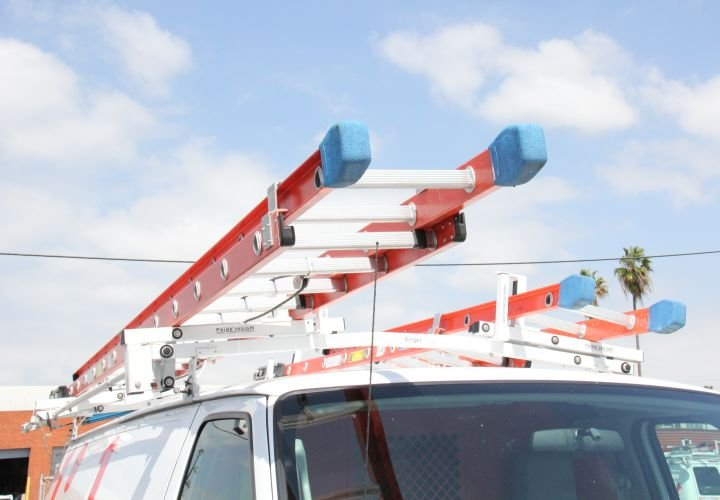 A ladder rack from Prime Design allows technicians to access their ladders with the pull of a...