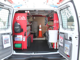 Leggett & Platt's setup was based on extensive input from DISH technicians.