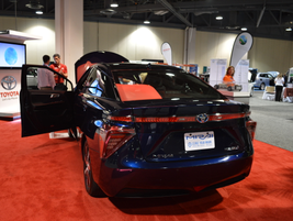 Toyota Mirai hydrogen fuel-cell sedan.