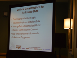 A session provided attendees with tips on how effectively prioritize data.