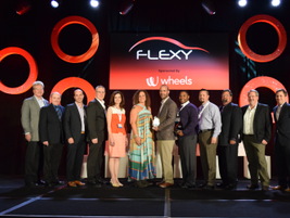 Flexy awards winners and sponsors at the NAFA I&E awards ceremony.