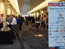 Attendees mingle on the conference floor at the 2017 Fleet Safety Conference in Shaumburg, Ill.