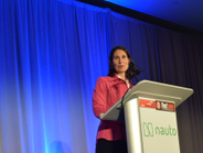 Deborah Hersman, CEO of the National Safety Council, speaks during the opening keynote titled...