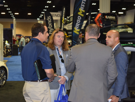 Brian Patnoe (far left), national account manager, fleet operations, Mercedes-Benz USA; Jim...