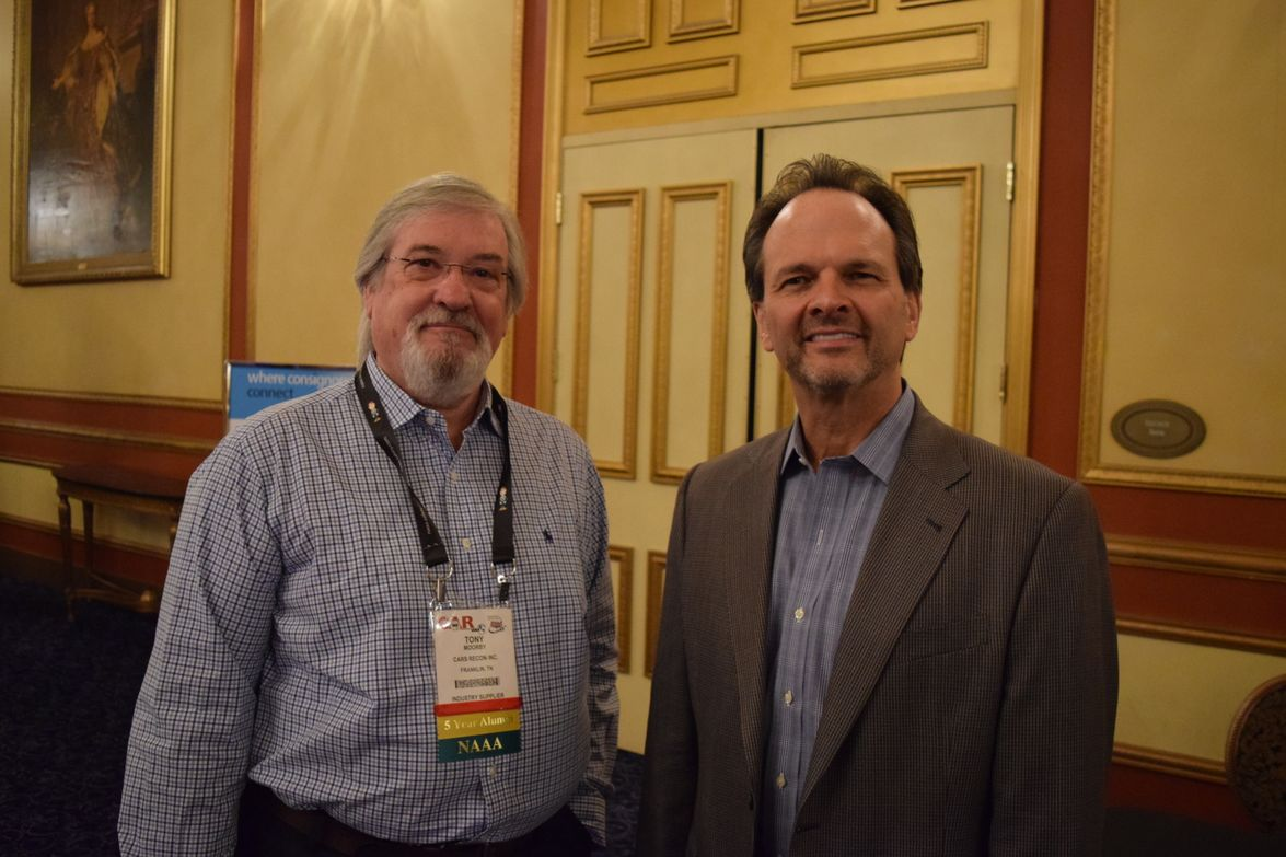 Tony Moorby (left), who was awarded theIARA 2017 Circle of Excellence Award at CAR 2017, with...