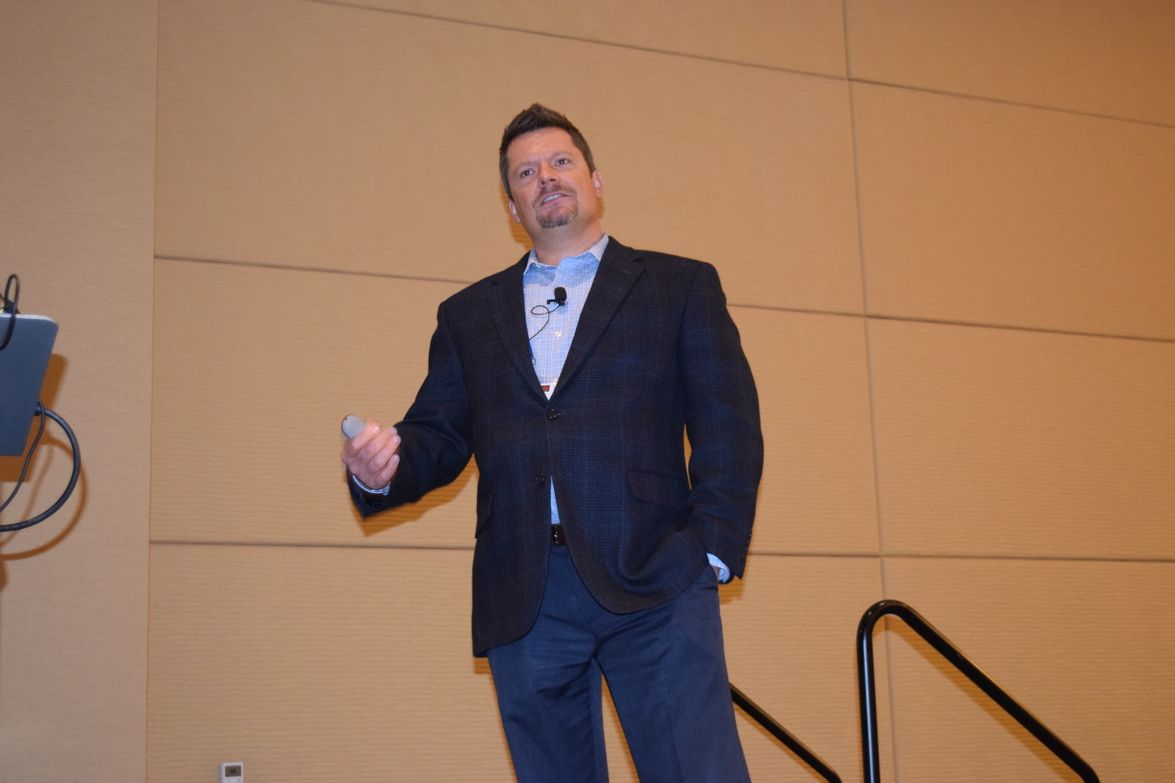 Abe Stephenson, fleet and administration manager at DISH Network, during his presentation on how...