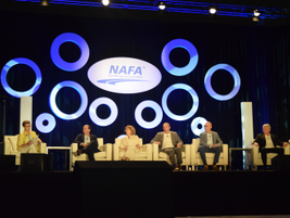 Pamela Sederholm (far left), executive director, American Automotive Leasing Association,...