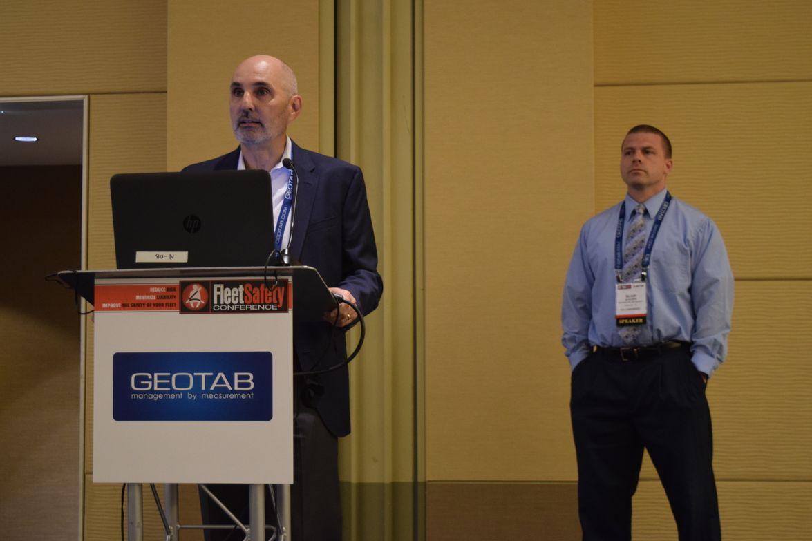 Rich Radi (left), director of product management for ARI, and Blair Schober, U.S. fleet, EH&S,...