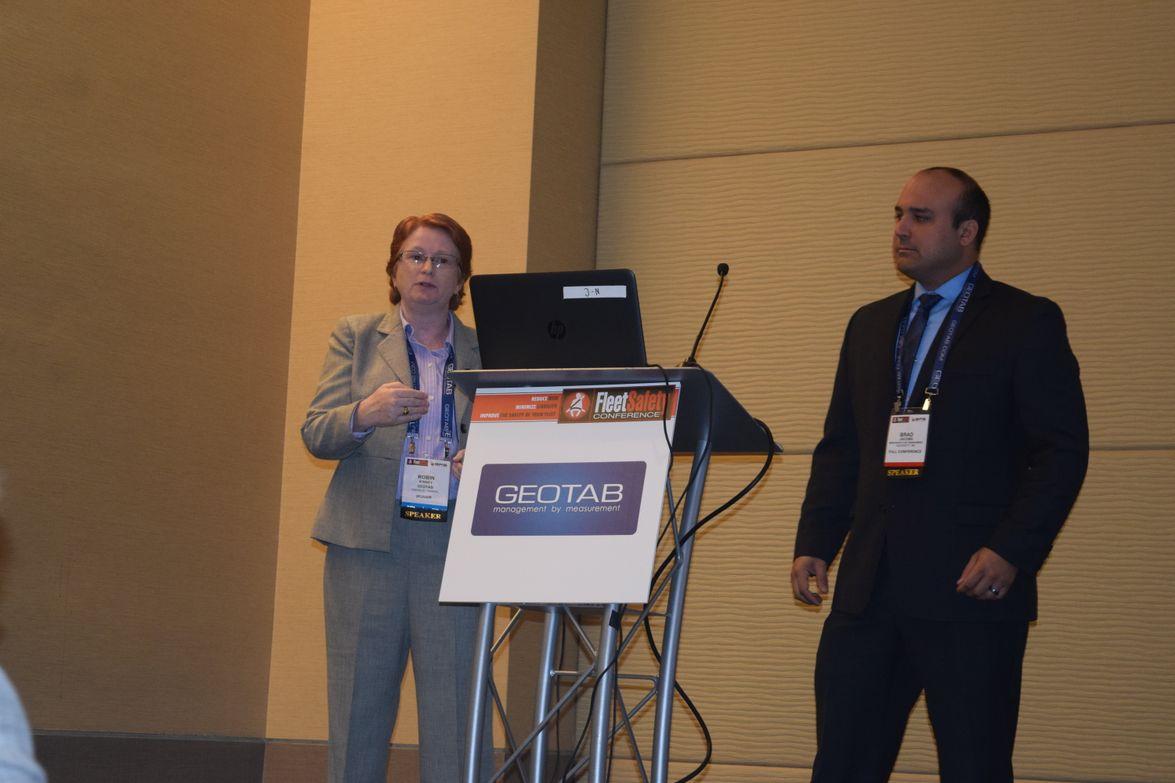 Robin Kinsey, HOS/ELD training specialist, Geotab, and Brad Jacobs, director of strategic...