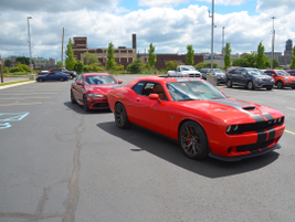Fleet customers rode in the 2017 Dodge Challenger SRT Hellcat during the ride-and-drive portion...