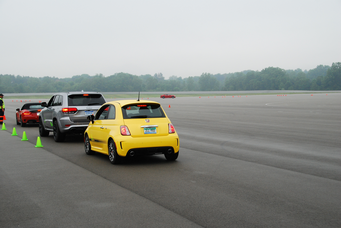 Journalists had the opportunity to drive an autocross course using Fiat, Jeep, and Dodge products.