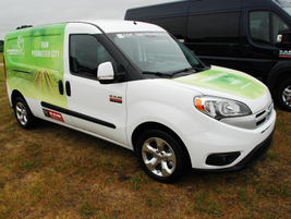 The Ram ProMaster City was among several models on display, decked out in its finest. The...