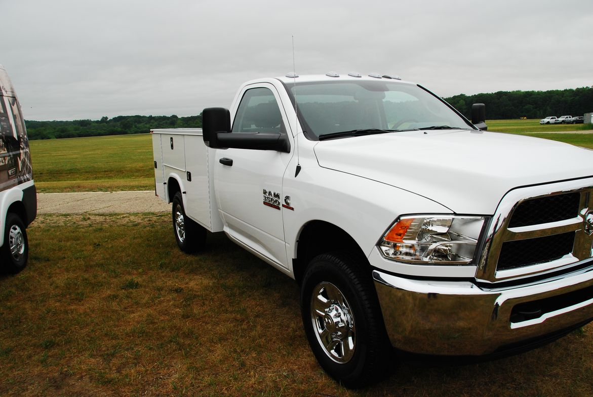 A Ram 3500 chassis cab with Knapheide box