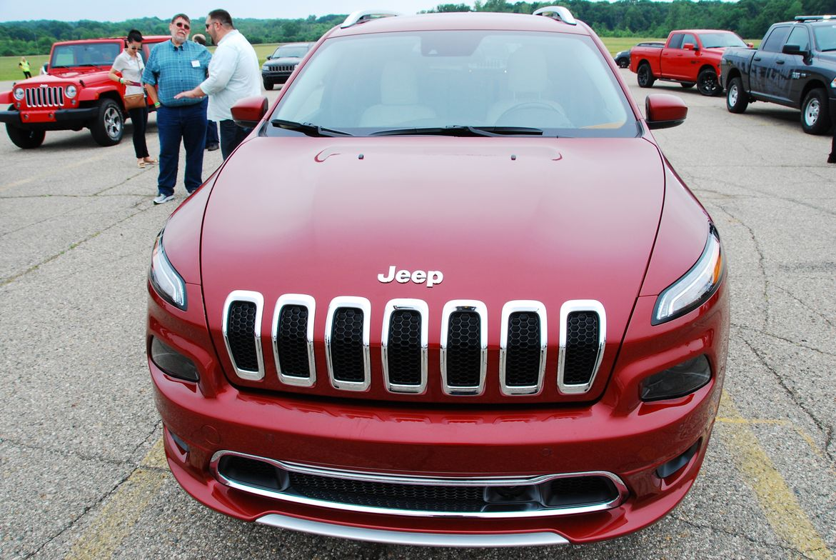This Jeep Cherokee was among the Jeep models available for track and offroad testing.