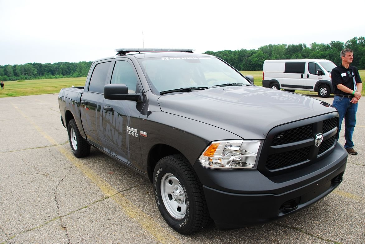 This Ram 1500 was outfitted with a law enforcement package.