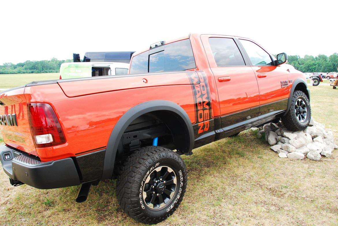 Though not available for testing, the Ram Power Wagon was displayed showing how it can take on...