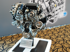 The redesigned Duramax 6.6L V-8 turbo-diesel will deliver 445 hp and 910 lb.-ft. of torque. It...