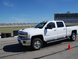 A winding autocross course allowed journalists to get a sense of the handling of the 2017...