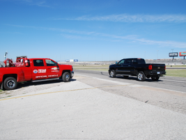 The autocross course included both straightaways and tight curves.