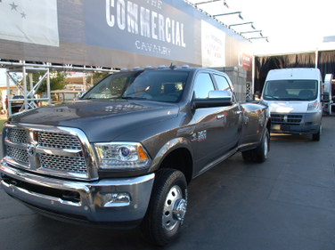 Ram Commercial had its lineup on display, including Ram heavy-duty and Ram ProMaster vehicles.