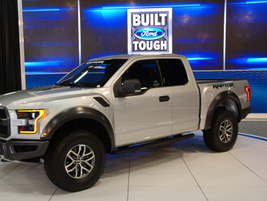 Ford highlighted a number of its updtated products including the Ford F-150 Raptor (pictured)...