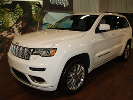 Jeep debuted the new Grand Cherokee (pictured) and Trail Hawk.
