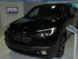 Honda highlighted it Ridgeline pickup truck.