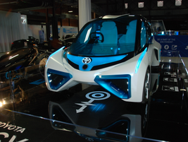 Toyota's FCV Plus concept vehicle presents Toyota's view of a connected, sustainable hydrogen...