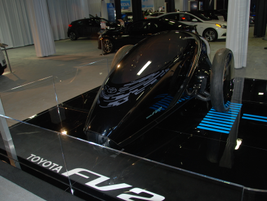 Toyota highlighted several of its foward-looking technology, including its FV2.