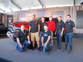 The Rebel TRX design team were called to the stage to take a bow.