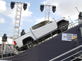 The Colorado ZR2 demonstrates its climbing abilities.