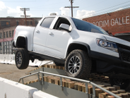 Chevrolet Colorado ZR2 navigated a rough road course.
