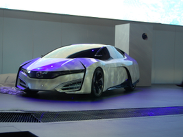 While prepping for the Honda FCEV Concept's reveal, the tarp was blown off and attendees were...