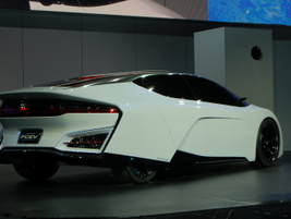 Honda was able to reduce the FCEV Concept'sfuel cell stack by 33 percent and raise its power...