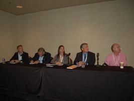 (L-R) Peter Groftehauge of AUTOROLA, Rob Hill of ARI, Heidi DiAngelo of PHH Arval Global...