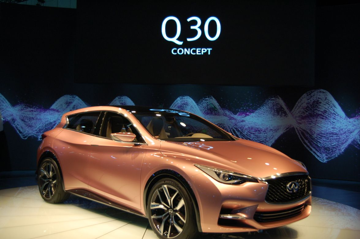 Infiniti's Q30 Concept combines features of a coupe, hatchback and crossover.