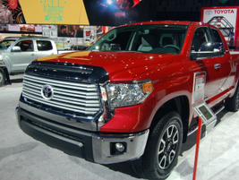 The Toyota Tundra is part of Toyota's truck family.