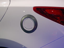 The Hyundai Tucson Fuel Cell's charging port.