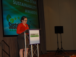 Joanne Tucker, public relations manager for Green Fleet Conference, announces the Sustainability...