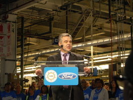 Plant Manager Brad Huff welcomed employees, senior management, and local officials to Ford's...