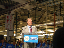 """Executive Chairman Bill Ford told the assembled guests that the Rouge plant is """"the heart of..."""