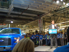 CEO Mark Fields credited the transformation of the Rouge plant and the all-new F-150 as an...