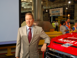 Ford posed with the all-new aluminum F-150.