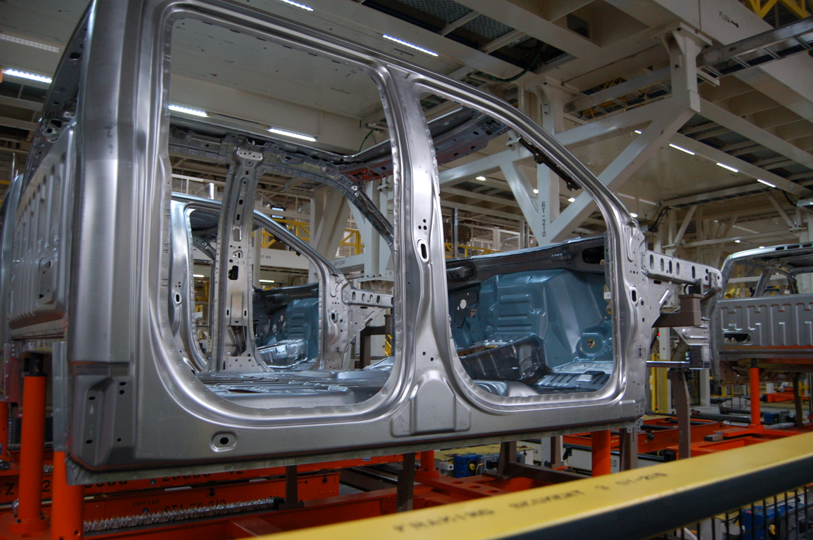 The Dearborn body assembly plant was part of $329 million retooling so the aluminum F-150 could...