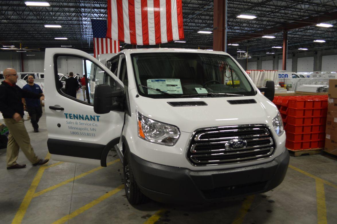 Ford Transit van with Tennant markings.