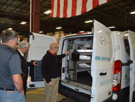 Auto Truck Group worked with SpitzLift to develop a lift for the Tennant van.