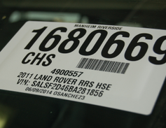 Each vehicle is assigned a tracking number and code.
