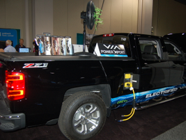 Gasoline-electric hybrid Chevrolet Silverado, modified by VIA Motors.