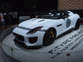 Jaguar highlighted new vehicles and prototype, concept vehicles, such as the F-Type Project.