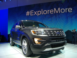 The 2016 Explorer has a 2.3-liter EcoBoost engine to replace the four-cylinder offering.